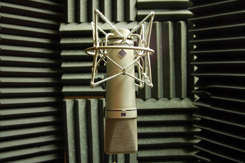 Akustická pěna ve studiu